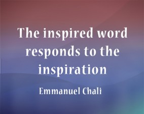 The inspired word responds to the inspiration